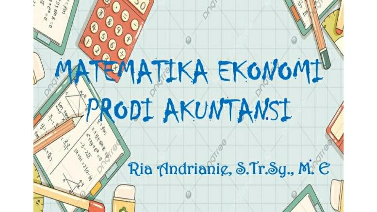 Matematika Ekonomi (2020/2021)