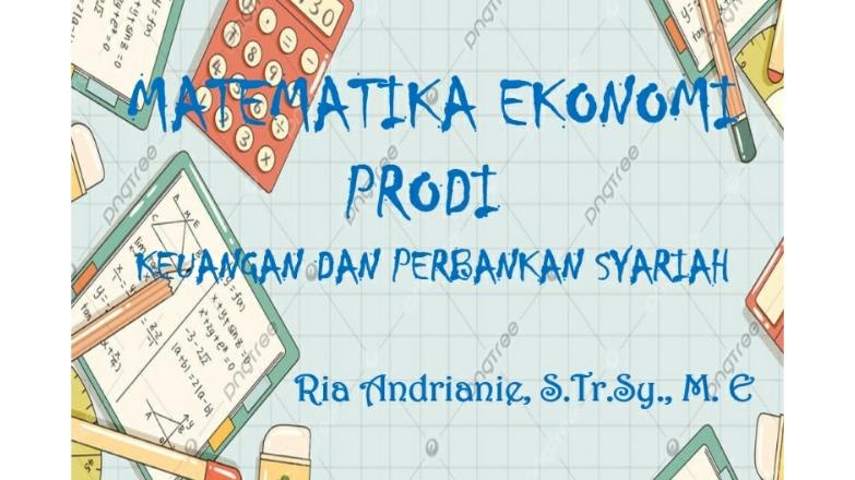 Matematika Ekonomi KPS (2020/2021)
